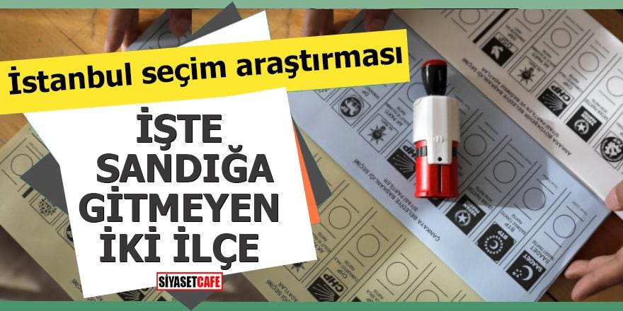 İstanbul seçim araştırması İşte sandığa gitmeyen iki ilçe!