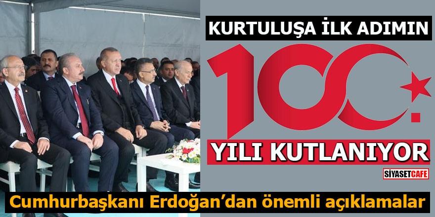 Samsun'da 100.yıl kutlamaları Cumhurbaşkanı Erdoğan'dan önemli açıklamalar