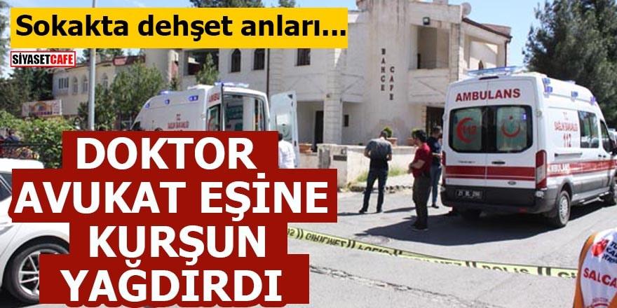 Sokakta dehşet anları! Doktor, avukat eşine kurşun yağdırdı