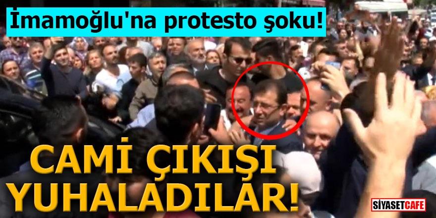 İmamoğlu'na protesto şoku! Cami çıkışı yuhaladılar
