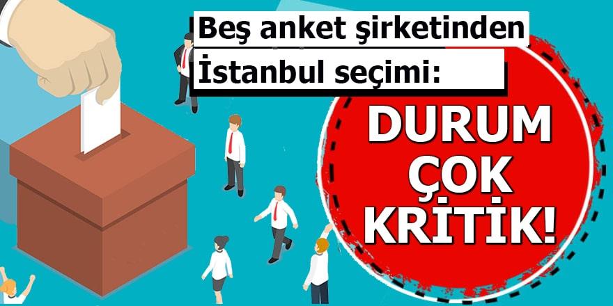 Beş anket şirketinden İstanbul seçimi: Durum çok kritik