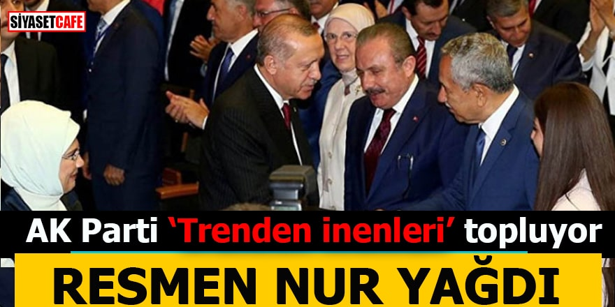 """AK Parti """"trenden inenleri"""" topluyor Resmen nur yağdı!"""