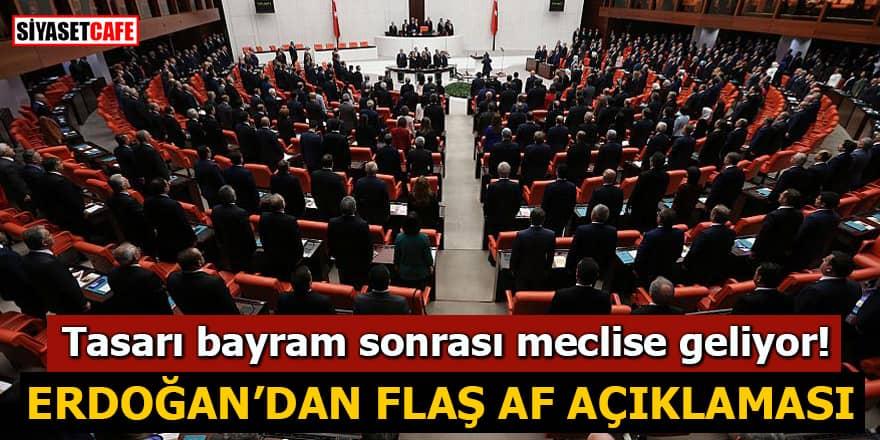 Tasarı bayram sonrası meclise geliyor! Erdoğan'dan flaş af açıklaması