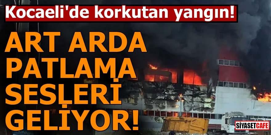 Kocaeli'de korkutan yangın!  Art arda patlama sesleri geliyor