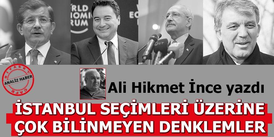 İstanbul Seçimleri Üzerine Çok Bilinmeyen Denklemler