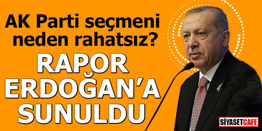 AK Parti seçmeni neden rahatsız? Rapor Erdoğan'a sunuldu