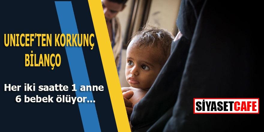 UNİCEF'ten içler acıtan bilanço: Yemen'de her iki saatte 1 anne ve 6 bebek ölmekte
