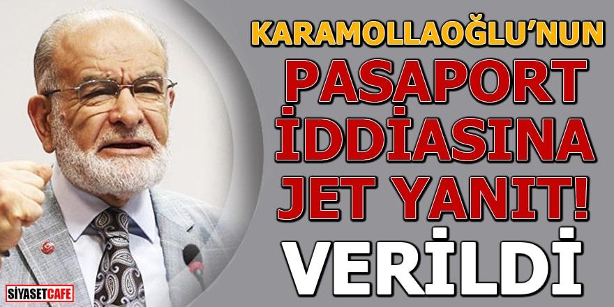 Karamollaoğlu'nun pasaport iddiasına jet yanıt: Verildi