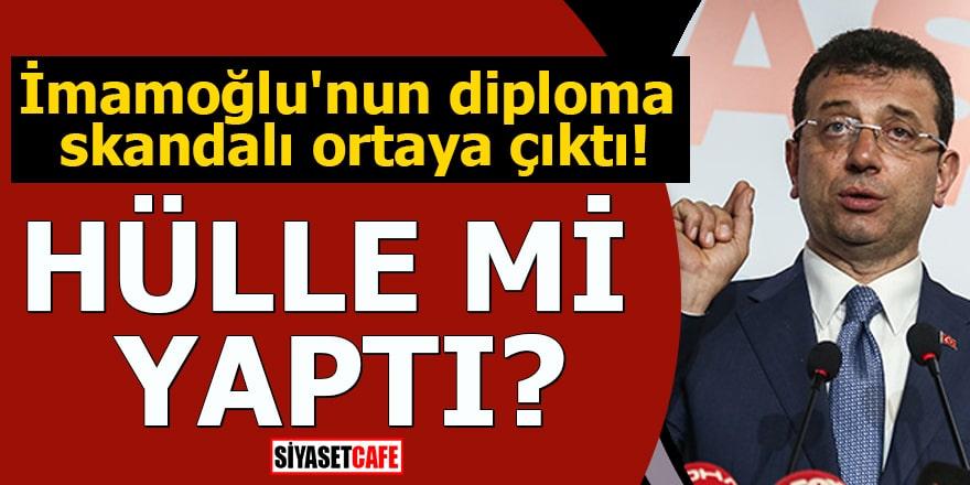 İmamoğlu'nun diploma skandalı ortaya çıktı Hülle mi yaptı?