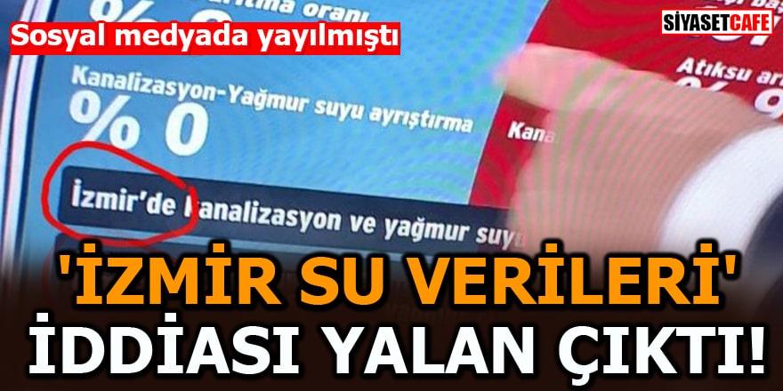 Sosyal medyada yayılmıştı 'İzmir su verileri' iddiası yalan çıktı