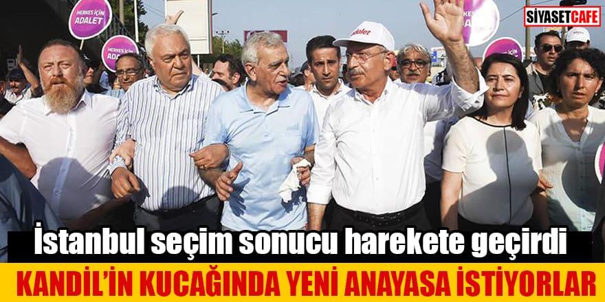 İstanbul seçim sonucu harekete geçirdi Kandil'in kucağında yeni Anayasa istiyorlar