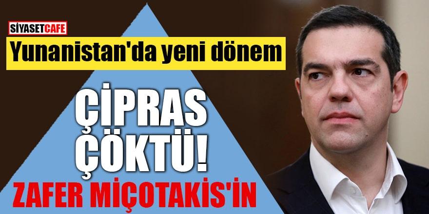 Yunanistan'da yeni dönem Çipras çöktü zafer Miçotakis'in