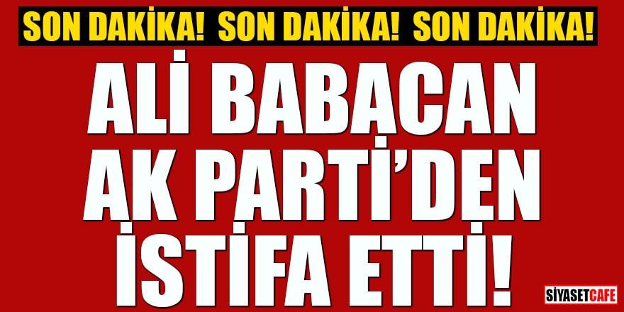 Flaş haber! Ali Babacan istifa etti