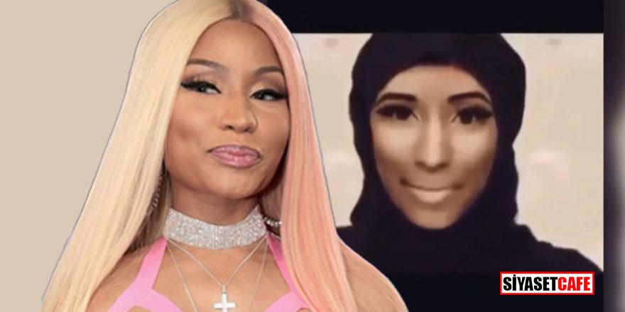 Çarşaflı Nicki Minaj sosyal medyayı salladı