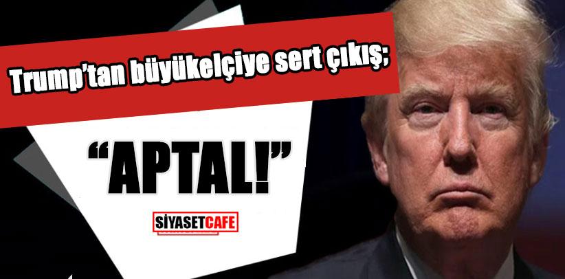 """Trump'tan büyükelçiye sert çıkış; """"APTAL!"""""""