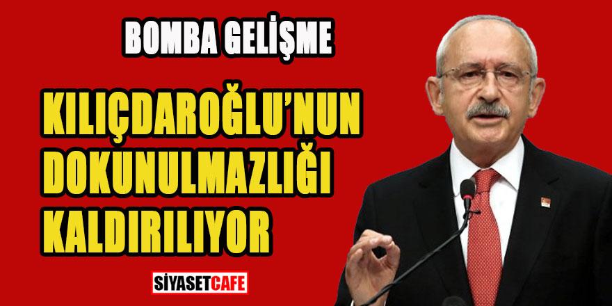 Bomba gelişme Kılıçdaroğlu'nun dokunulmazlığı kaldırılıyor