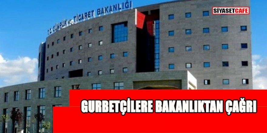 Yurt dışında yaşayan Türk vatandaşlarına flaş çağrı