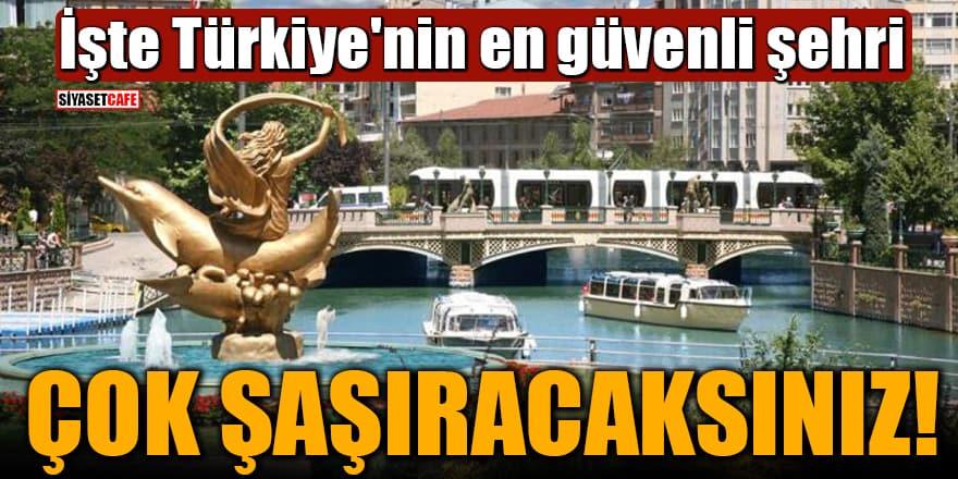 İşte Türkiye'nin en güvenli şehri ÇOK ŞAŞIRACAKSINIZ