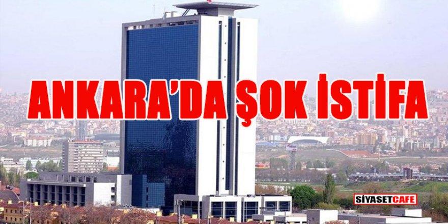 Ankara Büyükşehir Belediyesi'nde beklenmeyen istifa