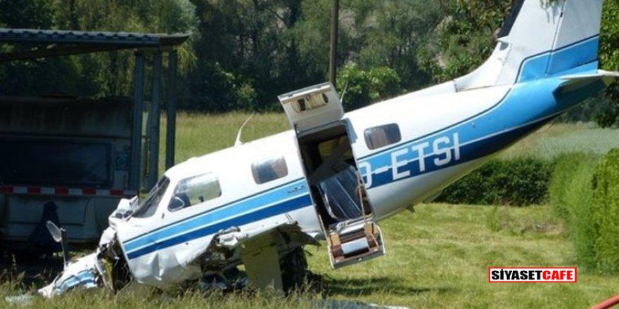 Nalburun bahçesine uçak düştü