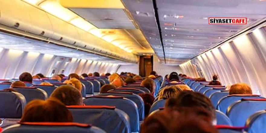 Uçakta cenin bulundu