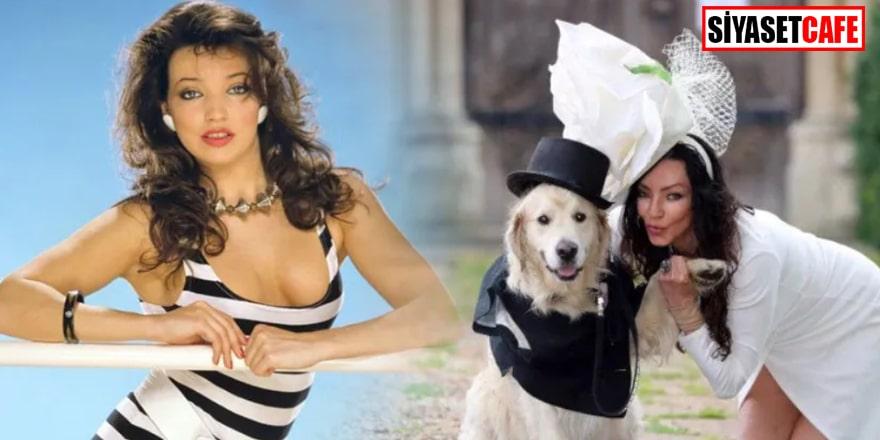 Eski model, köpeğiyle evleniyor