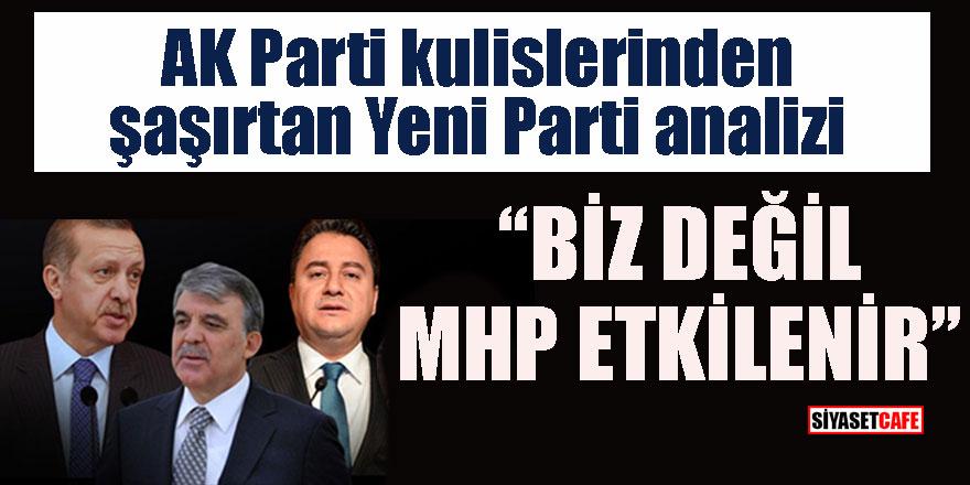 """AK Parti kulislerinden şaşırtan Yeni Parti analizi, """"Biz değil MHP etkilenir"""""""