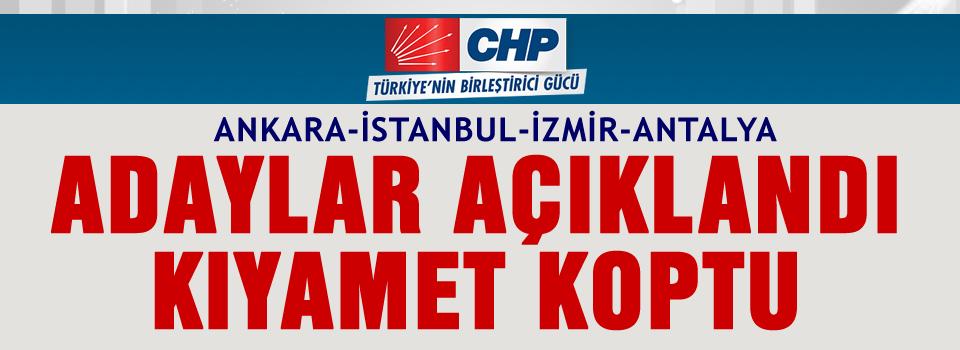 CHP'de kesinleşen ilçe belediye başkan adayları