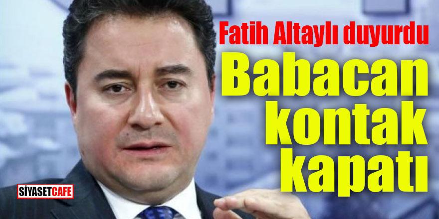 Yeni Partide flaş gelişme: Babacan kontak kapattı!