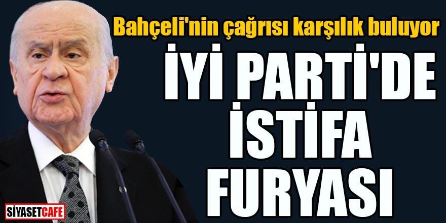 Bahçeli'nin çağrısı karşılık buluyor İYİ Parti'de istifa furyası