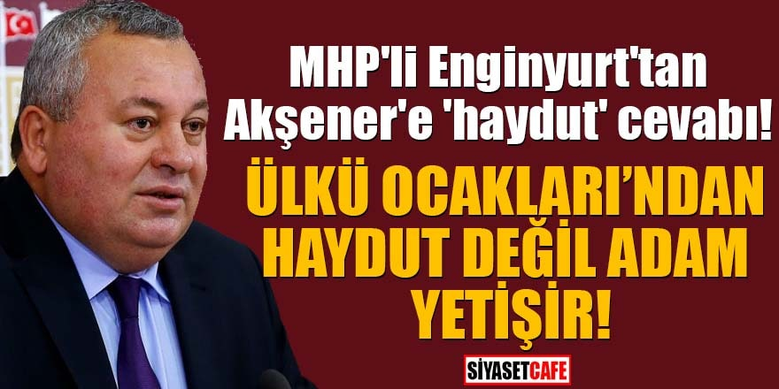 MHP'li Enginyurt'tan Akşener'e 'haydut' cevabı!