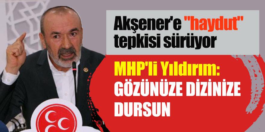 """Akşener'e """"haydut"""" tepkisi sürüyor! MHP'li Yıldırım: Gözünüze dizinize dursun"""
