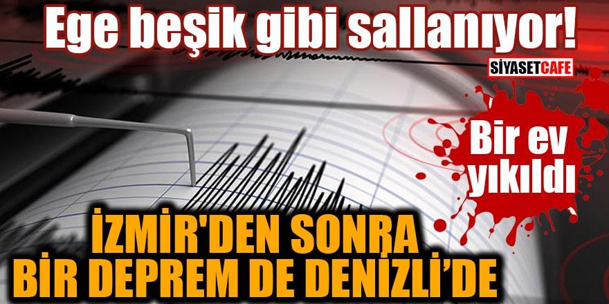 Ege beşik gibi sallanıyor! İzmir'den sonra bir deprem de Denizli'de