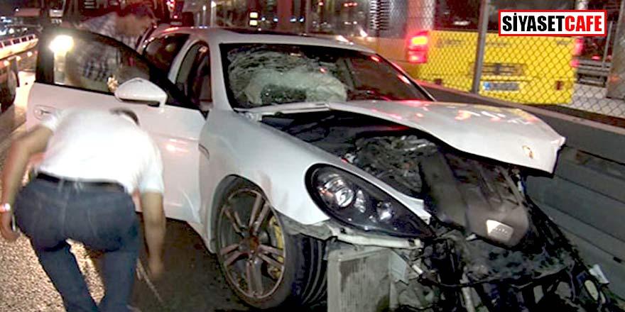 Porsche'a çarpan taksici bakın ne yaptı?