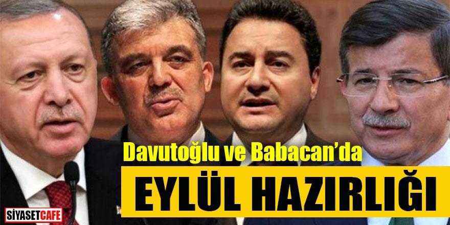 Davutoğlu ve Babacan'da Eylül hazırlığı