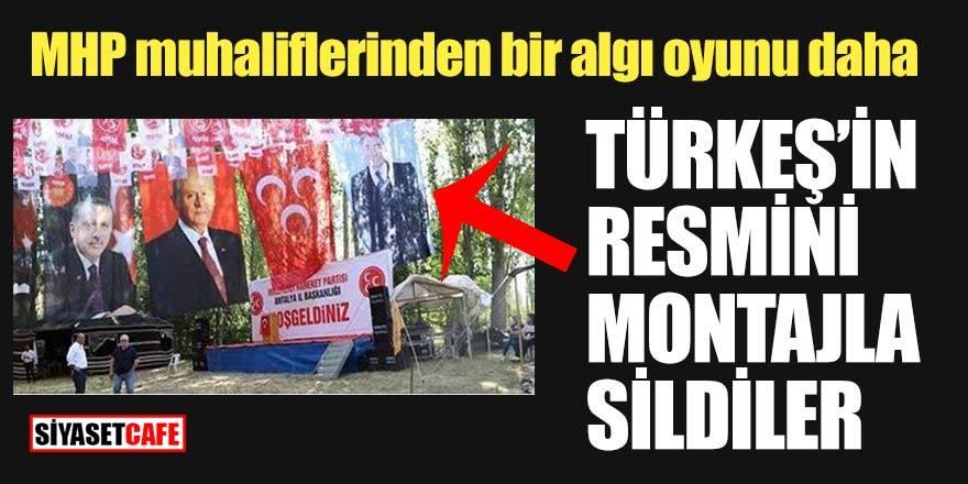 MHP muhaliflerinin bir algı oyunu daha! Türkeş'in resmini silerek yalan haber yaptılar