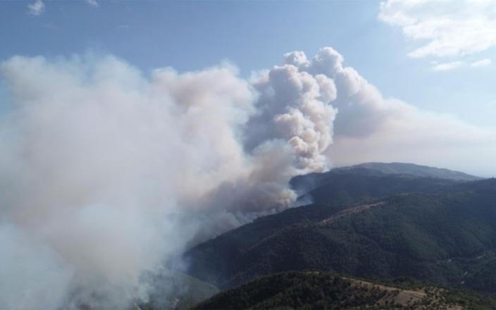 İzmir'de korkutan yangın! Evler boşaltılıyor