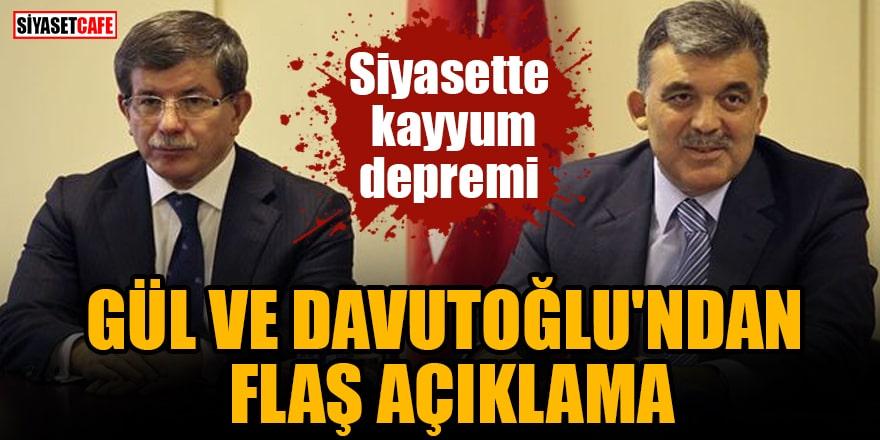 Siyasette kayyum depremi Gül ve Davutoğlu'ndan flaş açıklama