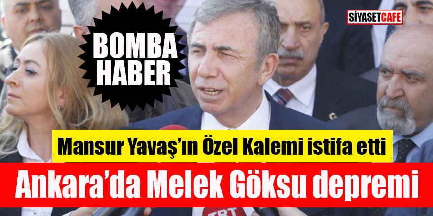 Ankara'da Melek Göksu depremi: Mansur Yavaş'ın Özel Kalem Müdürü istifa etti!