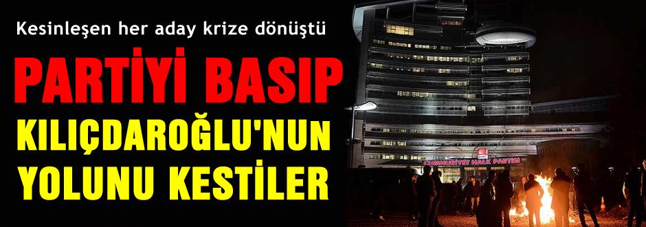 CHP'liler Partiyi basıp, yol kestiler