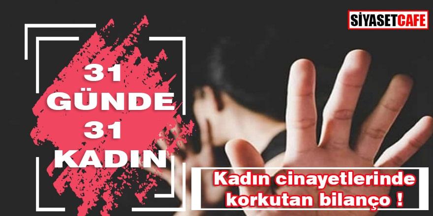 Türkiye'de korkutan bilanço ; 31 günde 31 kadın öldürüldü