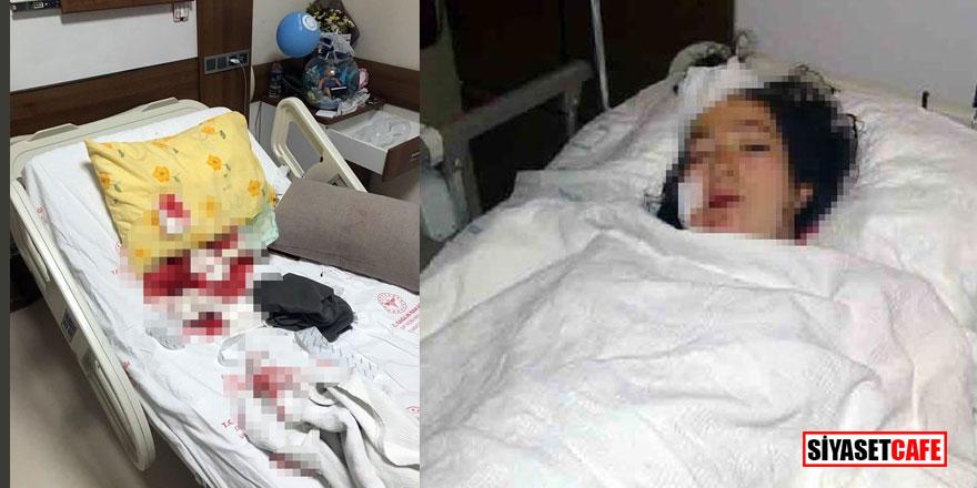 Doğum yapan karısını hastanede bıçakladı!