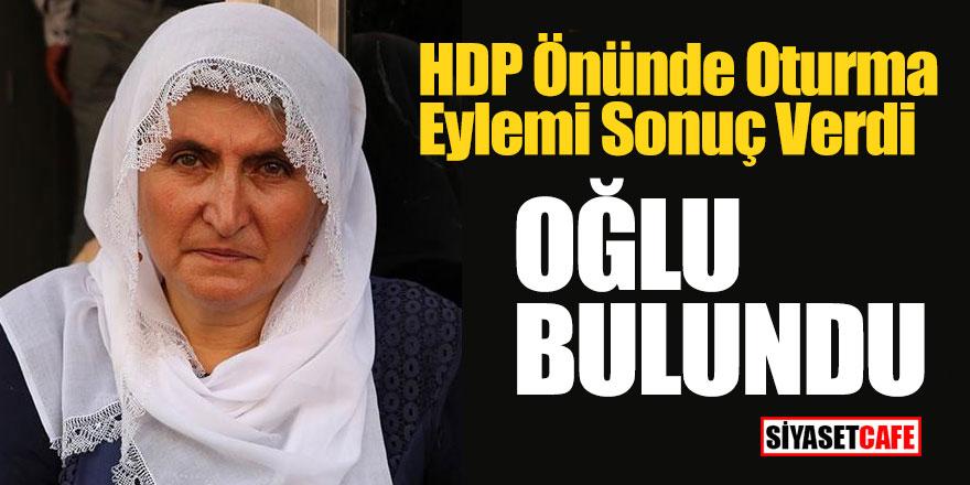HDP önünde oturma eylemi sonuç verdi, oğlu bulundu!