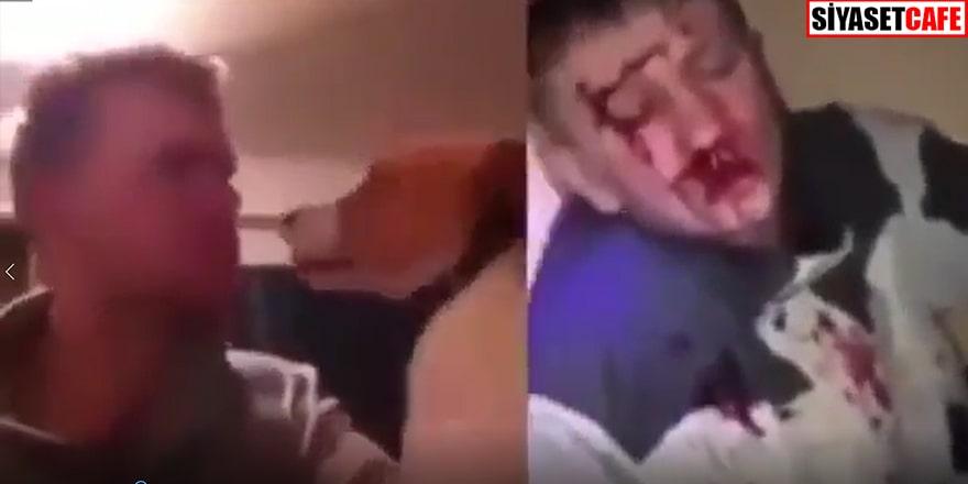 Köpeğini döven adam aynı şekilde dövüldü (+18)