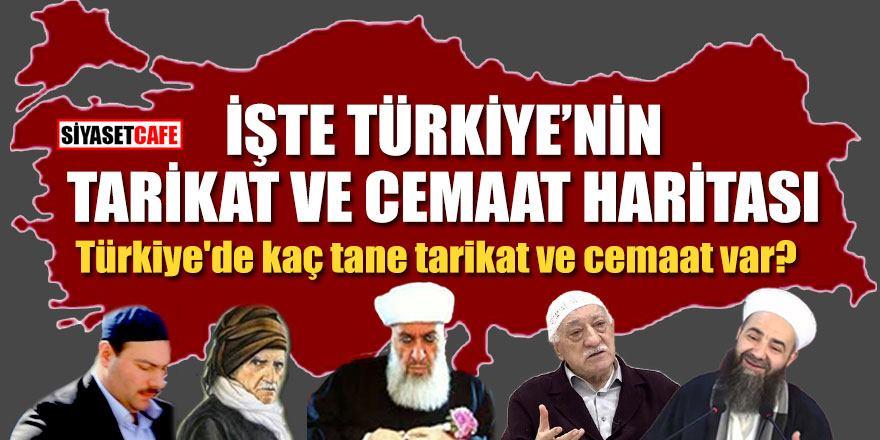 İşte Türkiye'nin tarikat ve cemaat haritası!