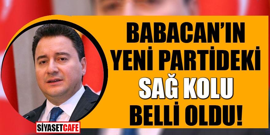 Flaş iddia: Ali Babacan'ın yeni partideki sağ kolu belli oldu