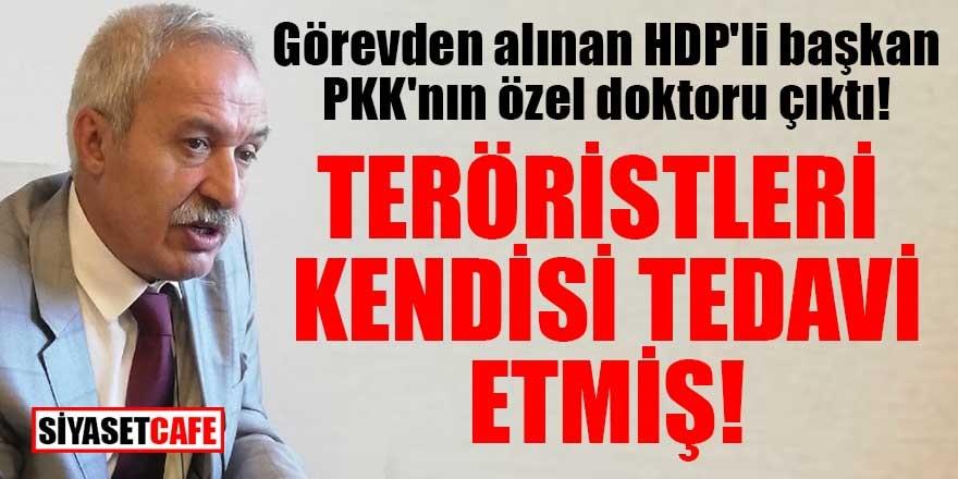 Görevden alınan HDP'li başkan PKK'nın özel doktoru çıktı! Teröristleri tedavi etmiş