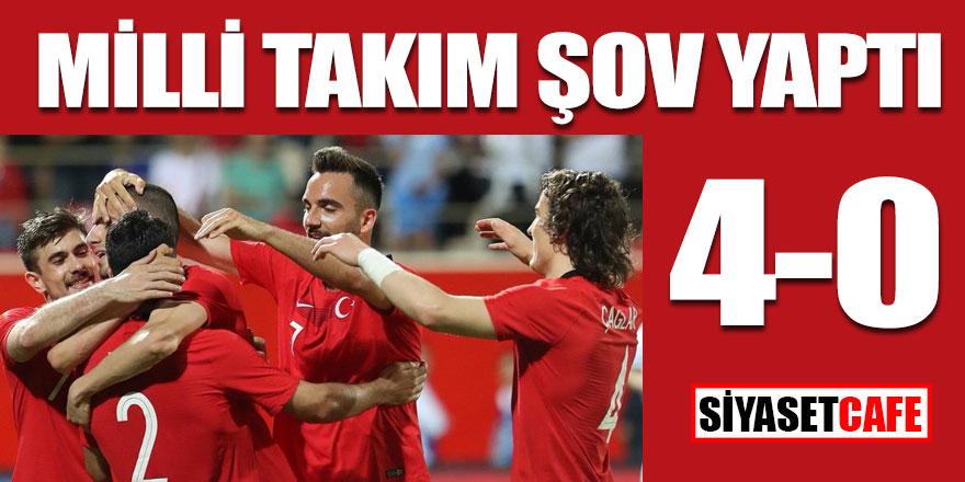 Milli takım şov yaptı; Moldova 0 Türkiye 4