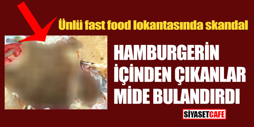 Bu görüntüden sonra bir daha hamburger yemeyeceksiniz