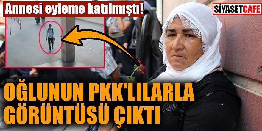 Annesi eyleme katılmıştı! Çocuğunun PKK'lılarla görüntüsü çıktı